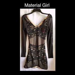 Material Girl Medium Black Lace Dress 👗